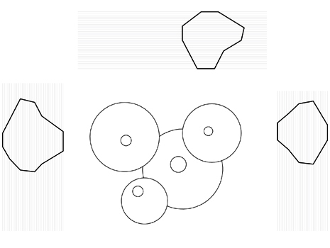 Secciones verticales maqueta