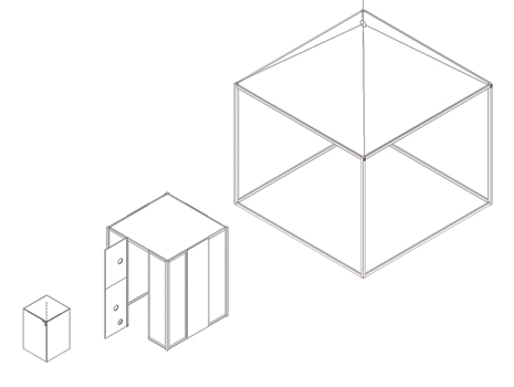 tres cajas